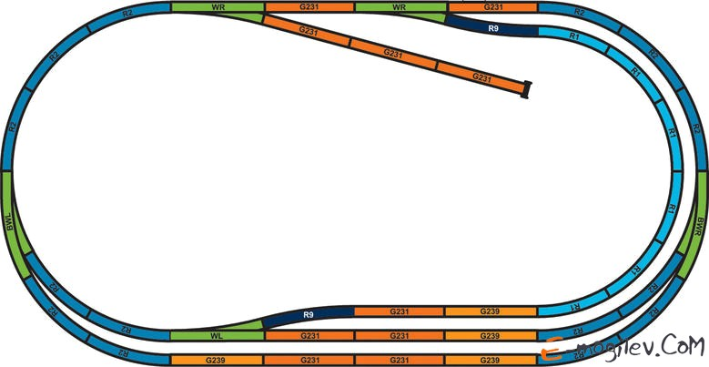 Piko 57175 Стартовый набор Электровоз и 3 грузовых вагона и Дизель-локомотив