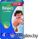 PAMPERS Active Baby Maxi Plus 4+ 9-16 �� 62 ��