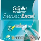 Сменные кассеты Gillette Sensor Excel (5шт)