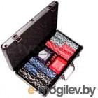 Набор для покера No Brand B-1 в чемодане, 300 фишек