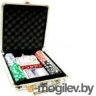 Набор для покера No Brand M-1 в чемодане, 100 фишек