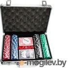 Набор для покера No Brand S-1 в чемодане, 200 фишек