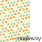 Плед детский ОТК Разноцветные киски 75x100 (велсофт, желтый)
