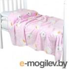 Плед детский ОТК Птичка 75x100 (велсофт, розовый)