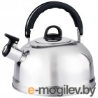 Чайник Casual 004260 из нерж стали со свистком, зерк полировка, литраж - 2,7 л, без тм