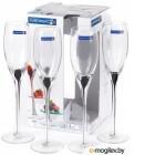 Набор бокалов для шампанского Luminarc Drip black E2203 (4шт)