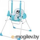 Качели для новорожденных Polini Kids Disney baby Микки Маус с вышивкой (синий)