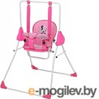 Качели для новорожденных Polini Kids Disney baby Минни Маус с вышивкой (розовый)