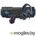 наборы клавиатурамышь Gamdias Poseidon E1 Combo Black USB