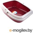Туалет-лоток Ferplast Moderna / 72048099 (красный)