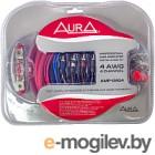 Комплект проводов для автоакустики AURA AMP-0404