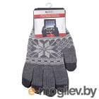 Теплые перчатки для сенсорных дисплеев Liberty Project Снежинка M Grey 0L-00000029