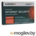 Программное обеспечение Kaspersky Internet Security Multi-Device Russian Edition 3-Device 1 year Renewal Card KL1941ROCFR