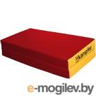 Гимнастический мат Kampfer №4 100x100x10см (красный/желтый)