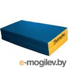Гимнастический мат Kampfer №4 100x100x10см (синий/желтый)