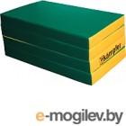 Гимнастический мат Kampfer №7 200x100x10см (зеленый/желтый)