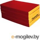 Гимнастический мат Kampfer №7 200x100x10см (красный/желтый)