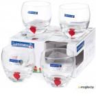 Набор стаканов Luminarc Drip red E5171