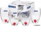 Набор стаканов Luminarc Drip red E5230