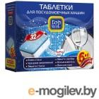 Аксессуары для бытовой техники Таблетки для посудомоечных машин Top House 6в1 4660003392296