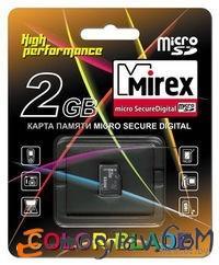 Карта памяти microSD Mirex 2GB