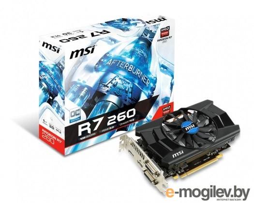 MSI 1Gb R7 260 1GD5 OC R7 260, GDDR5, 128 bit, HDCP, 2*DVI, HDMI, DP, Retail