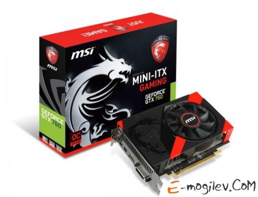 MSI N760 2GD5/OC ITX с CUDA GFN760, GDDR5, 256 bit, HDCP, DVI, HDMI, 2*mini DP, Retail