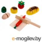 Деревянные игрушки Буратино Овощи на липучке 40069-R