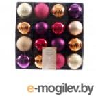 Елочные игрушки и украшения Kaemingk Набор шаров Deluxe Южный вечер 6cm 16шт 023640