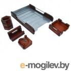 Настольные подставки и наборы Настольный набор Delucci Red Wood MBn_05220