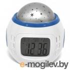 Светильники и ночники Эврика Часы-ночник проектор звездного неба 94672