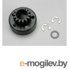 Сцепление. Clutch bell (14-tooth)/5x8x0.5mm fiber washer (2)/ 5mm e-clip (requires 5x10x4mm ball bearings part.
