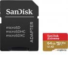 Карта памяти SanDisk Extreme microSDXC 64GB + адаптер (SDSQXA2-064G-GN6MA)