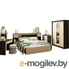 Комплект мебели для спальни Интерьер центр Бася (венге/беленый дуб)