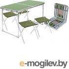 Комплект складной мебели Ника ССТ-К3 (зеленый)