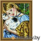 Набор алмазной вышивки Picasso Девочка с кошкой (5PD4050031)