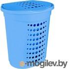 Корзина для белья Алеана 122053 (голубой)