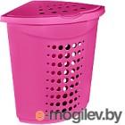 Корзина для белья Алеана 122051 (темно-розовый)