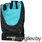 Перчатки для фитнеса Atemi AFG06BE (L, черный/голубой)