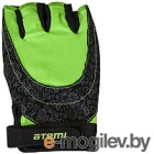 Перчатки для фитнеса Atemi AFG06GN (S, черный/зеленый)