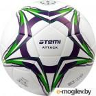 Футбольный мяч Atemi Attack PVC foam (размер 5, белый/синий/салатовый)