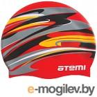 Шапочка для плавания Atemi PSC305 (красный/графика)