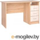 Письменный стол Интерлиния СК-001 (дуб сонома/дуб белый)