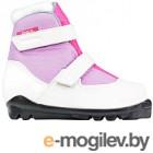 Ботинки для беговых лыж TREK Kids SNS (белый/сиреневый, р-р 34)