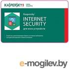 ПО антивирусное Kaspersky Internet Security Multi-device 1 год Card / KL19412UCFR (продление на 3 устройства)