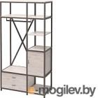 Шкаф Millwood Neo Loft ML-3/L (дуб белый Craft/металл черный)