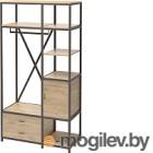 Шкаф Millwood Neo Loft ML-3/L (дуб золотой Craft/металл черный)