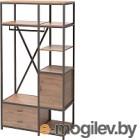 Шкаф Millwood Neo Loft ML-3/L (дуб табачный Craft/металл черный)