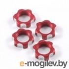 Гайки колес 1/8 - V2 Wheels Nuts 1.25mm Thread - Red (4шт).