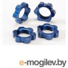 Wheel nuts, splined, 17mm (blue-anodized) (4).